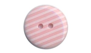 PINK - Striped Button